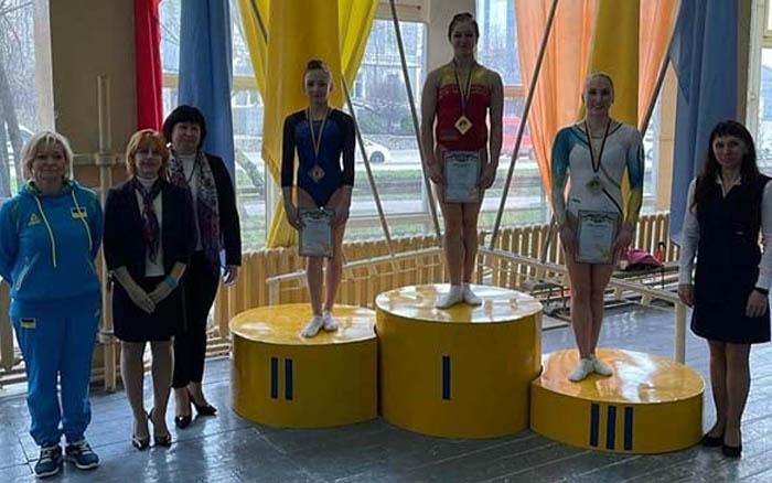 Анастасія Бачинська завоювала дві золоті нагороди на чемпіонаті України зі спортивної гімнастики