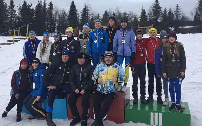 Збірна Тернопільської області – третя на чемпіонаті України з лижних гонок