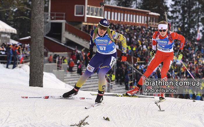 Меркушина посіла десяте місце на чемпіонаті світу з біатлону