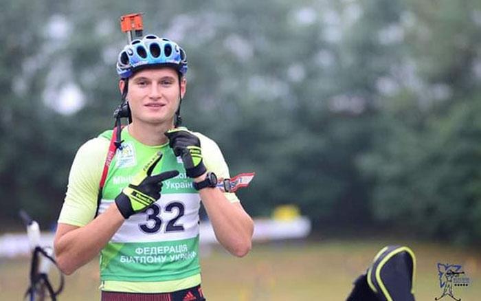 Віталій Мандзин  - бронзовий призер у гонці переслідування Літнього чемпіонату України з біатлону у Чернігові