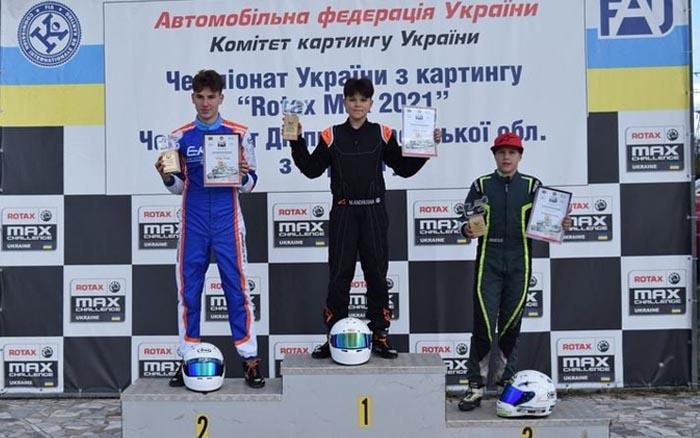 Тернополянин Матвій Грабець став срібним призером V етапу Чемпіонату України з картингу