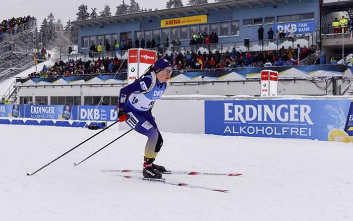 Меркушина у складі збірної України фінішувала сьомою у змішаній естафеті на чемпіонаті Європи