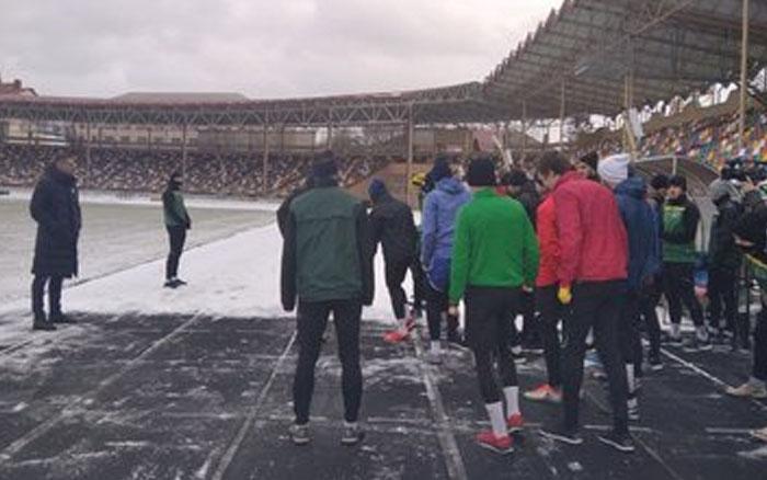 """Футбольний клуб """"Нива"""" Тернопіль розпочав тренувальний збір після зимової відпустки"""