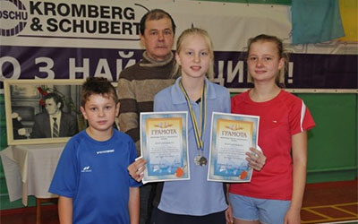 Юні збаразькі тенісисти здобули призові місця на спортивних іграх Тернопільщини
