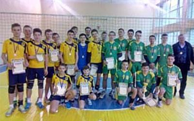 Чемпіонат області дитячо-юнацької волейбольної ліги серед 17-річних юнаків виграла команда з Теребовлі