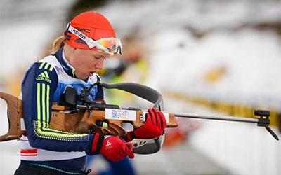 Анастасія Меркушина з одним промахом фінішувала в четвертому десятку