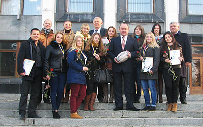Голова Тернопільської обласної ради нагородив регбісток ТНЕУ