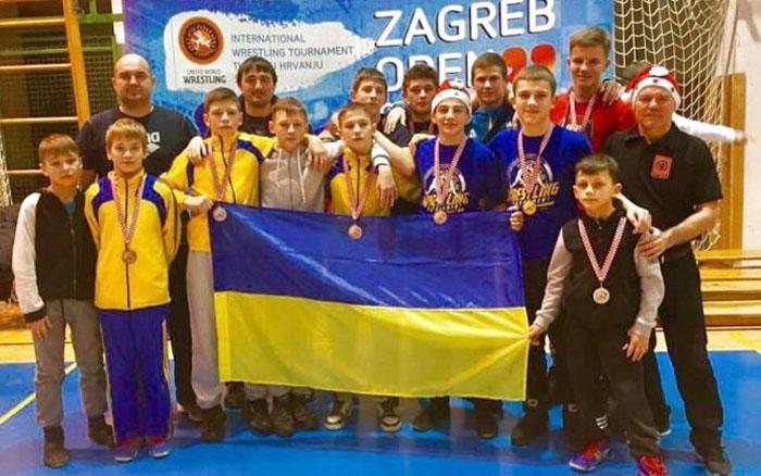 Тернопільські борці стали призерами Різдвяного турніру у Загребі