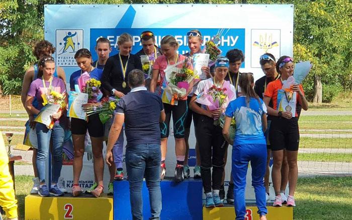 Команда Тернопільської області виграла естафету літнього чемпіонату України з біатлону
