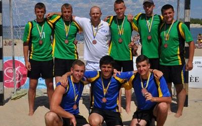 Збірна області з пляжного гандболу стала бронзовим призером чемпіонату України