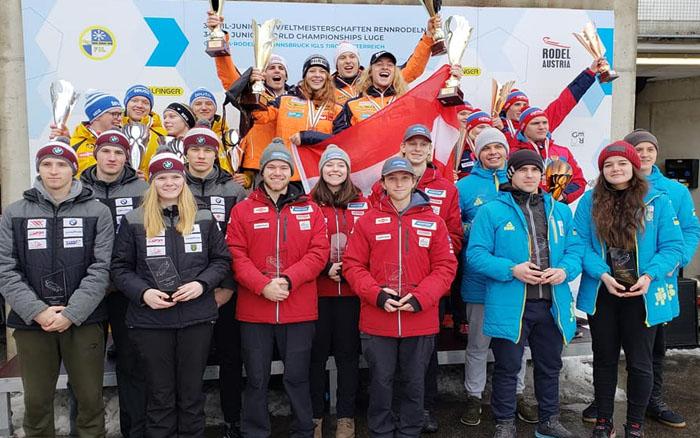 Кременцькі саночники виступили на чемпіонаті світу серед юніорів