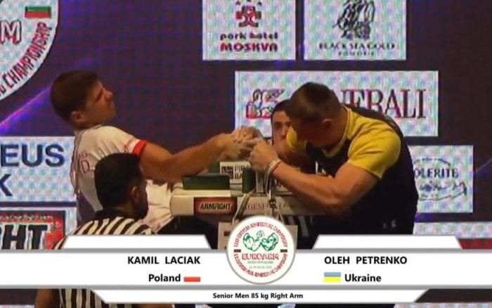 Тернопільський рукоборець Олег Петренко став шостим на чемпіонаті світу
