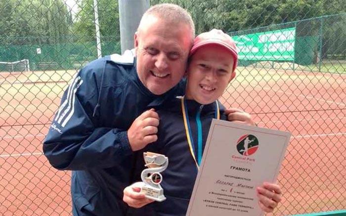 12-річний тернополянин виграв турнір з тенісу