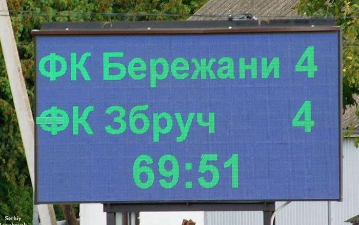 """ФК """"Бережани"""" зіграли в результативну нічию ФК """"Збруч-Агробізнес"""""""