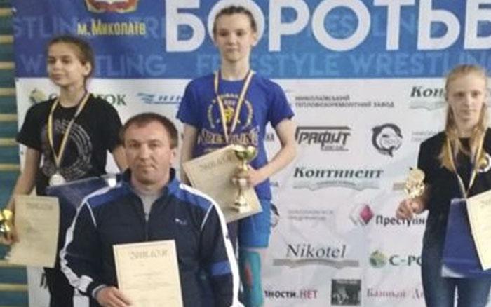 Вероніка Кондратенко здобула золоту медаль на Чемпіонаті України з вільної та жіночої боротьби