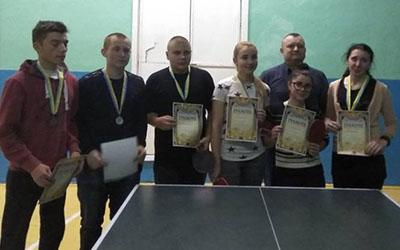 В Гусятинському коледжі ТНТУ ім. І. Пулюя відбулась відкрита першість з настільного тенісу