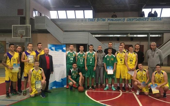 Збірна ТНЕУ здобула перемогу у Відкритій Універсіаді Тернополя з баскетболу